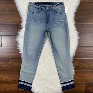 J Brand Remnant Alana High Rise Cropped Jeans